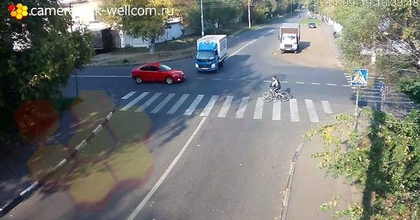This Bicyclist Is About To Be In A Massive Accident And What Happens Next Is Unbelievable